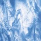 Bullseye - Clear/Egyptian blue Opal - 13x15cm