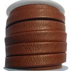 Slangen leder - Donker koper bruin - Leder - 10mm