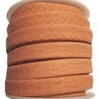 Slangen leder - Vintage roze/pech - Leder - 10mm