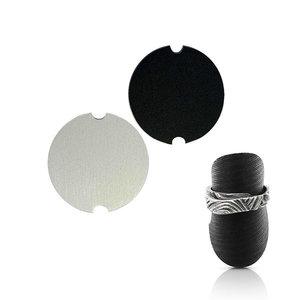 Ringstandaard In kunstleer - 36.5 mm - 2 stuks (wit en zwart)