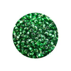 Rocailles 11/0 - Grasgroen Kern Zilver - 15gr