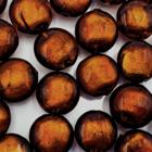Coin - Donker bruin - Murano glas - 12mm