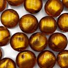 Coin - Bruin gouden kern - Murano glas - 12mm