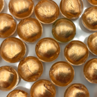 Coin - Geel gouden kern - Murano glas - 12mm