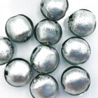 Coin - Licht grijs - Murano glas - 12mm