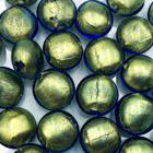 Coin - Grijs/groen - Murano glas - 12mm