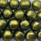 Coin - Olijf groen - Murano glas - 12mm