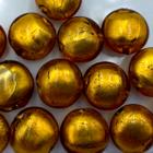 Coin - Goud/bruin - Murano glas - 12mm