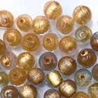 Rond - Trans gouden kern - Murano glas - 6mm