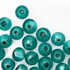 Rond - Turquoise/groen zilveren kern - Murano glas - 6mm