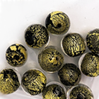 Rond - Zwart / olijfgroen - Murano glas - 8mm