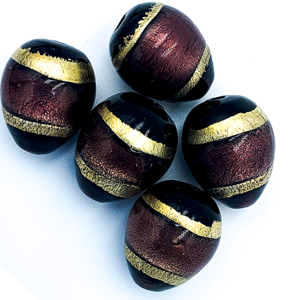 Druppel - Paars goud - Murano glas - 18.8x15mm
