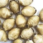 Citroen - Beige goud sparkel - Murano glas - 14x10mm