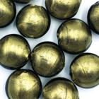 Coin - Olijf groen - Murano glas - 14x10mm
