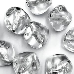 Onregelmatig - Tr. wit zilver - Murano glas - 17.8x18.10mm