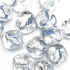 Onregelmatig - Tr. zilver blauw - Murano glas - 17.8x18.10mm