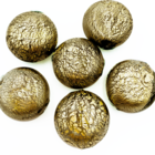 Coin holle kraal - Olijf / goud - Murano glas - 22.8x22.4mm