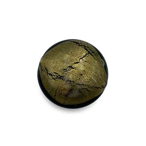Grote coin - Olijf groen - Murano glas - 27.4mm