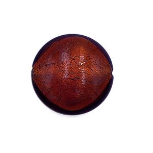 Grote coin - Bruin gouden kern - Murano glas - 27.4mm