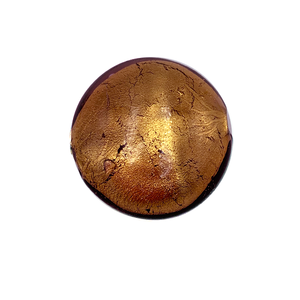 Grote coin - Bruin /brons - Murano glas - 27.4mm