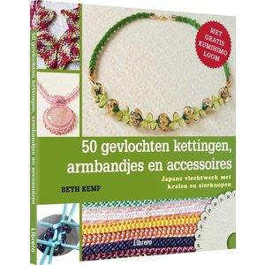 Boek - 50 kumihimo kettingen, armbandjes en accessoires (Beth Kemp)