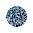 Delica 11/0 - DB376 - Opaque Blue Rainbow Mat - 3,2gr