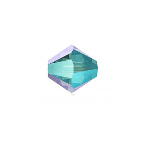 Toupie - Aquamarine shimmer - Swarovski - 3mm