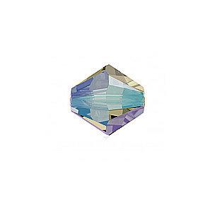 Toupie - Black Diamond Shimmer 2x - Swarovski - 3mm