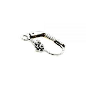 Gesloten haak/bloem - Zilver - Metaal - 18mm