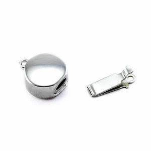 Rond inschuifslot - Zilver - Rhodium - 10mm