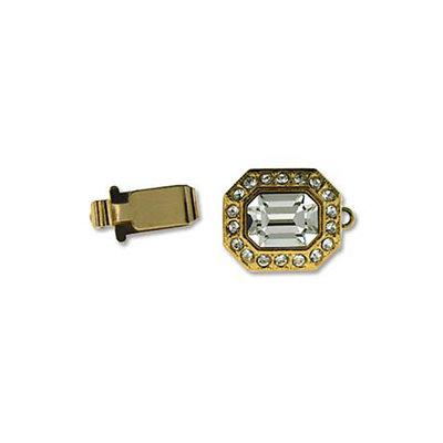 Slot met zirconia - 8 hoekig - 22x12mm - goudkleur