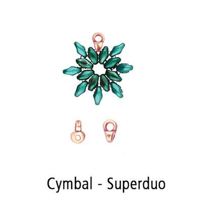 Cymbal eindkap - Superduo - Rose Goud