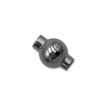 Bol magneet slot - Zilverkleur - Stainless steel - 19mm/gat 2mm