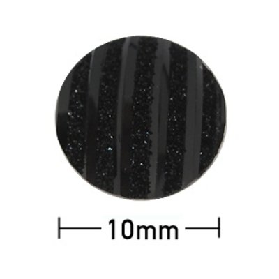 Kleefcabochon rond - Zwart parelmoer - Resin - 10mm