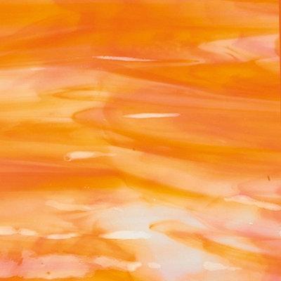 Bullseye - White Orange Opal - Coe 90 - 12.5x15