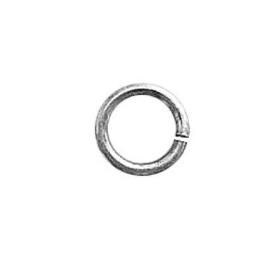 Open oog - Rhodium - Rhodium - 16x1.5mm