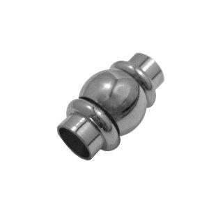 Bol magneet slot - Zilverkleur - Stainless steel - 28x10mm/gat 6mm