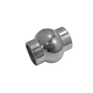 Bol magneet slot - Zilverkleur - Stainless steel - 20x18mm/gat 10mm