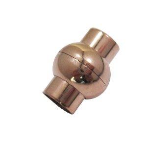 Bol magneet slot - Rosé gold - Metaal - 20x18mm/gat 10mm