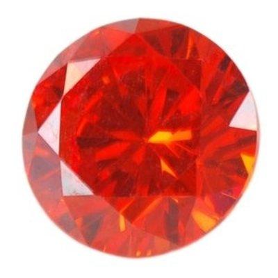Rond - Fire Opal Orange - Zirconia - 6mm