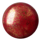 Cabochons Par Puca - Opaque Coral Red Bronze - 25mm