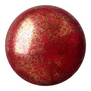 Cabochons Par Puca - Opaque Coral Red Bronze - 25mm