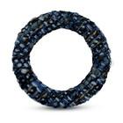 Ring textiel - Blauw tint - Textiel/metaal - 38mm