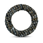 Ring textiel - Bruin tint - Textiel/metaal - 38mm