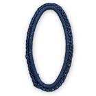 Ovaal gehaakt - Jeans blauw - Metaal/draad - 44x24mm