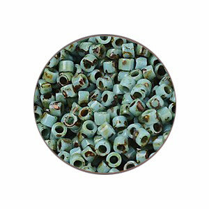 Delica 11/0 - DB2264 - Opaque Turquoise Picasso - 3,2gr