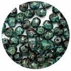 Facetkraal - Donker groen marer - Glas p198 - 4mm