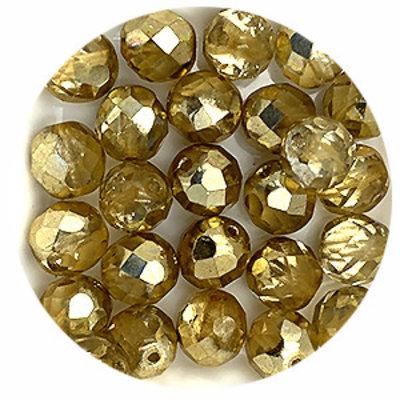 Facetkraal - Crystal dorado - Glas - 8mm