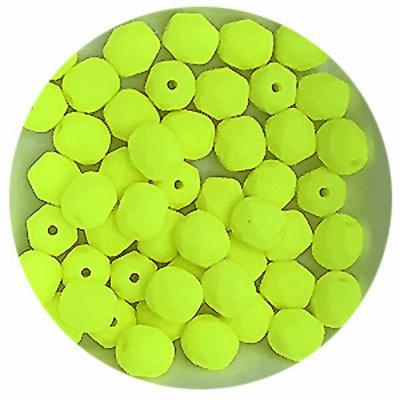Facetkraal - Yellow neon mat - Glas - 6mm