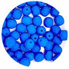 Facetkraal - Aquamarine neon mat - Glas - 6mm